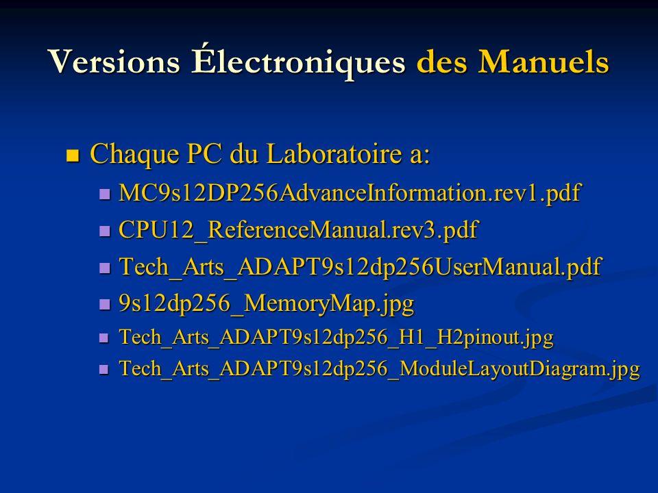 Versions Électroniques des Manuels