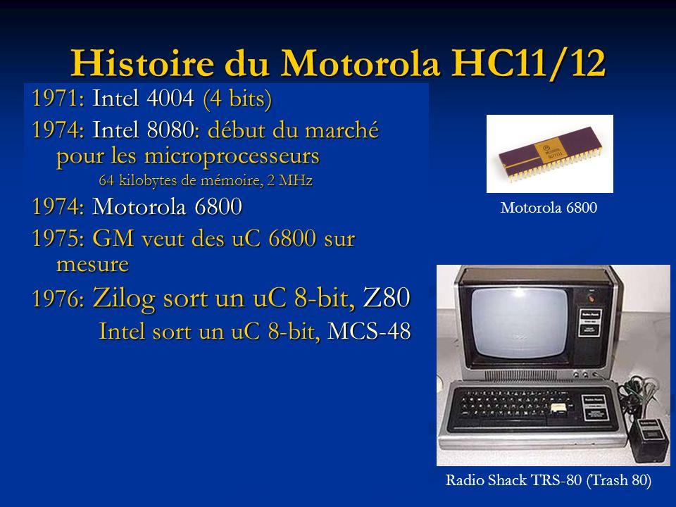 Histoire du Motorola HC11/12