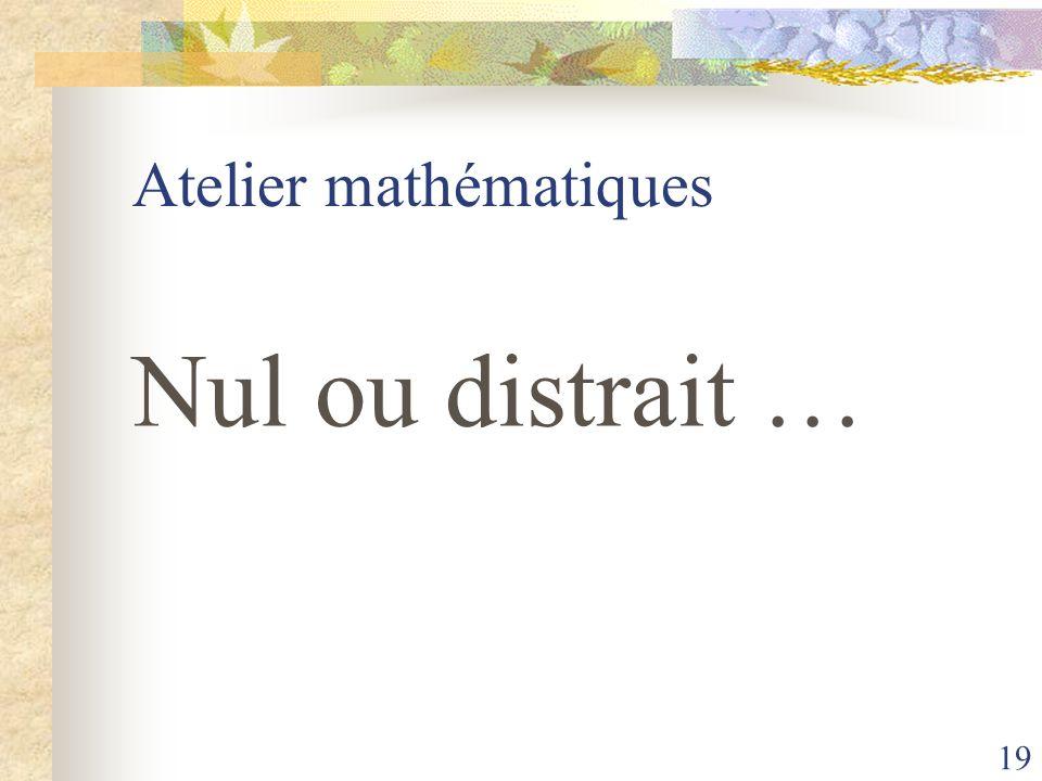 Atelier mathématiques