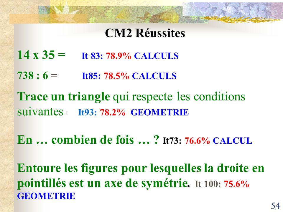 En … combien de fois … It73: 76.6% CALCUL