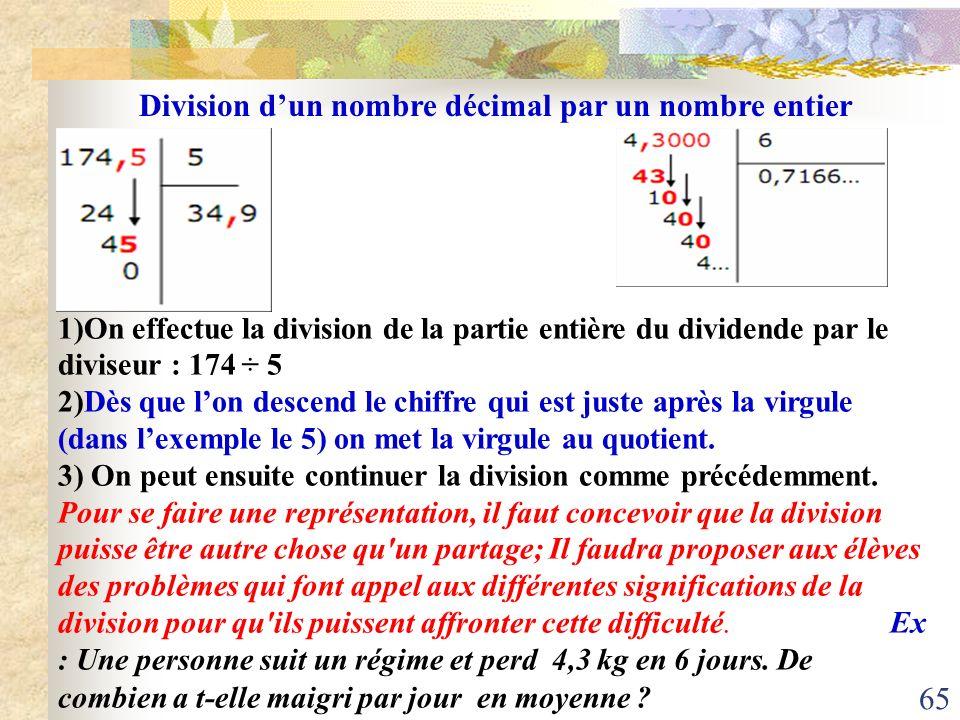 Division d'un nombre décimal par un nombre entier