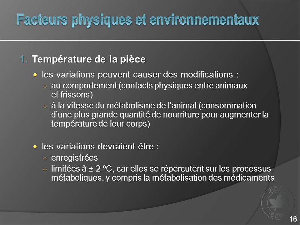 Facteurs physiques et environnementaux