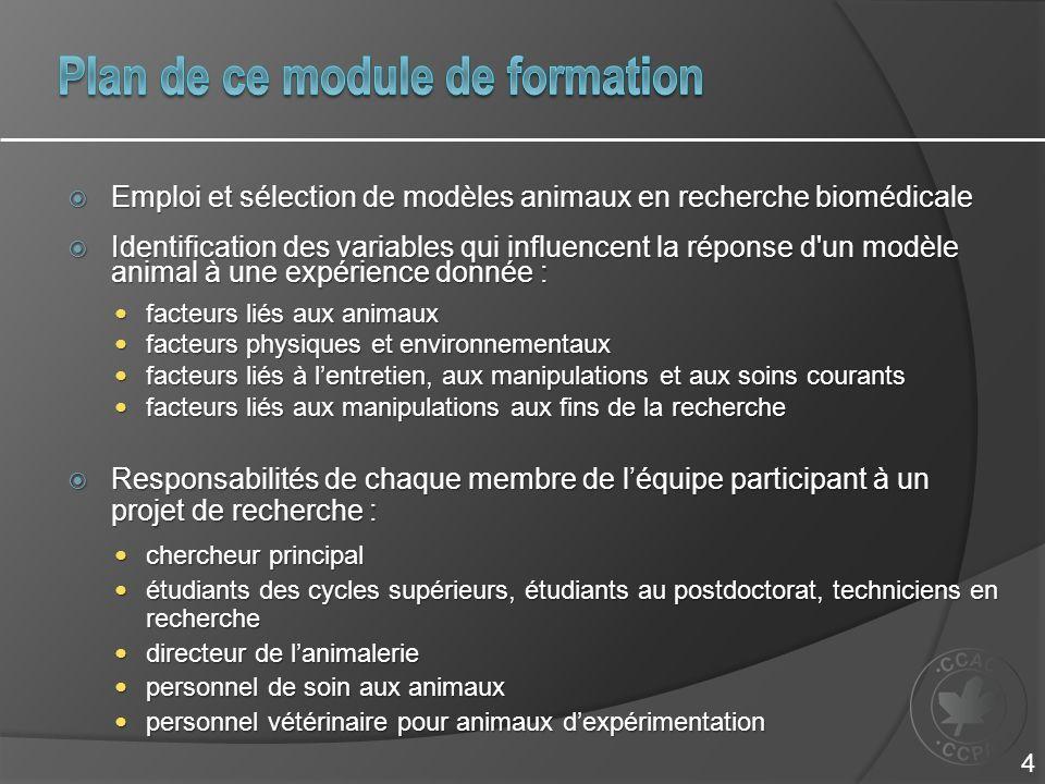 Plan de ce module de formation