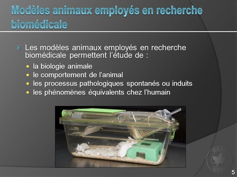 Modèles animaux employés en recherche biomédicale