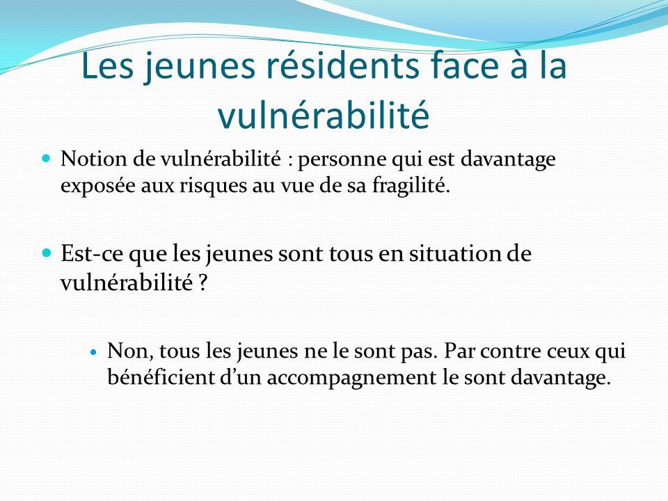 Les jeunes résidents face à la vulnérabilité