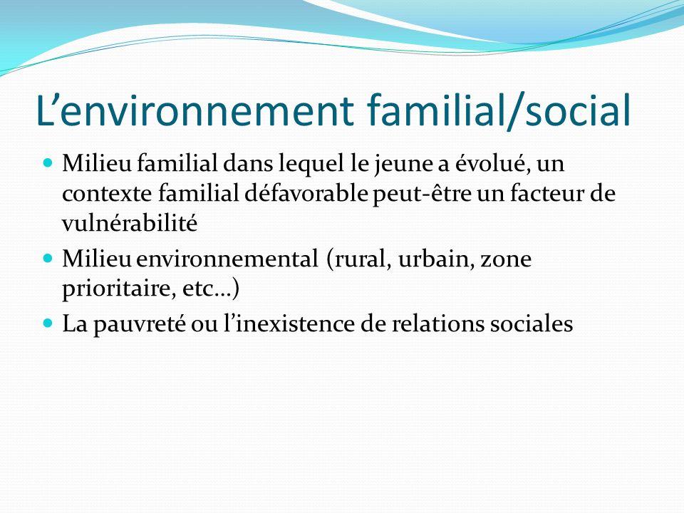 L'environnement familial/social