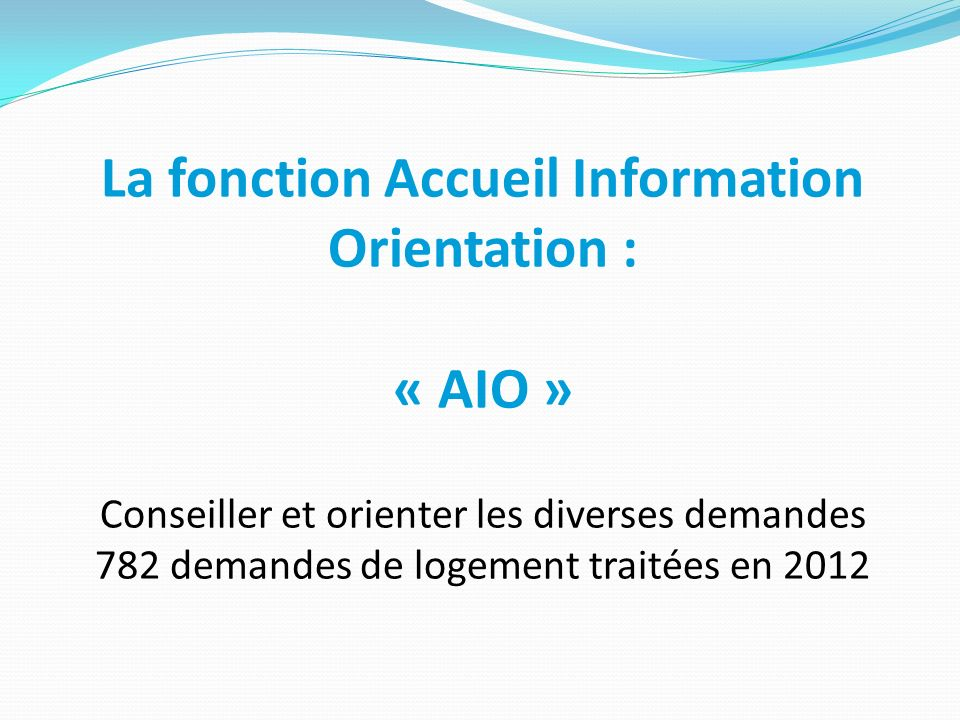 La fonction Accueil Information Orientation :