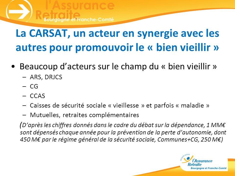 La CARSAT, un acteur en synergie avec les autres pour promouvoir le « bien vieillir »