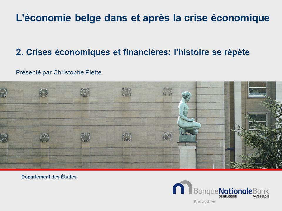 L économie belge dans et après la crise économique 2