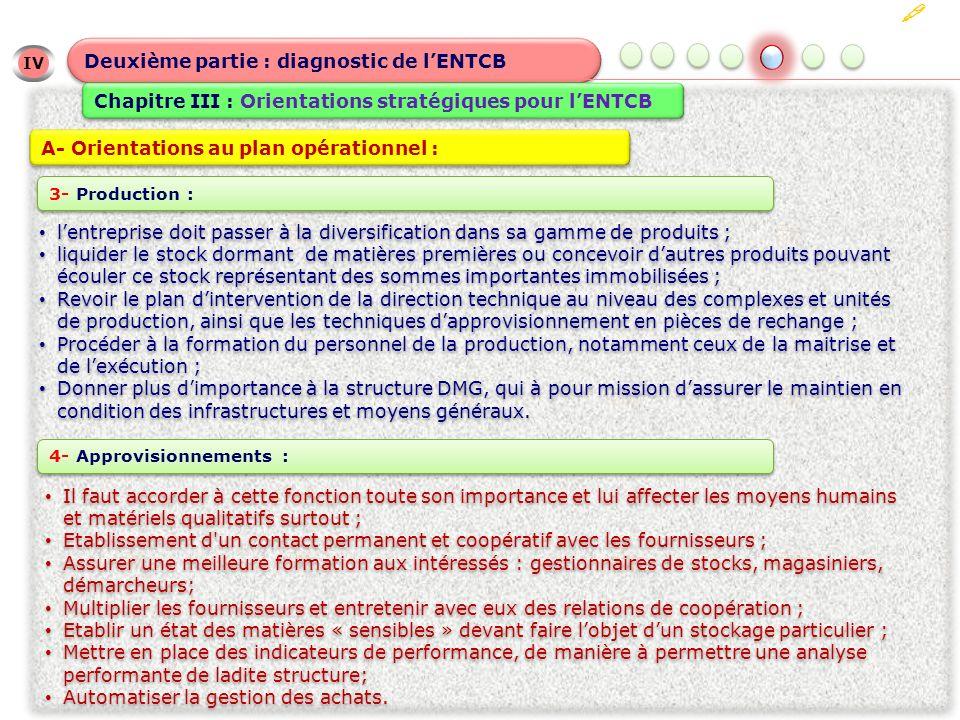  Deuxième partie : diagnostic de l'ENTCB