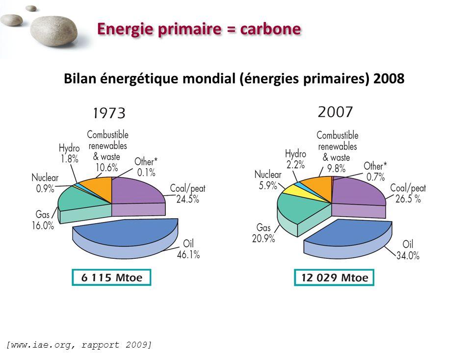 Energie primaire = carbone