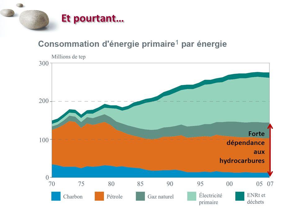 Et pourtant… Forte dépendance aux hydrocarbures
