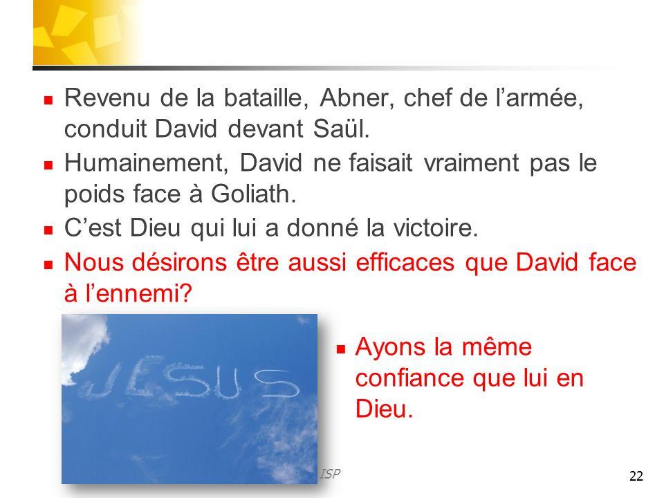 Humainement, David ne faisait vraiment pas le poids face à Goliath.