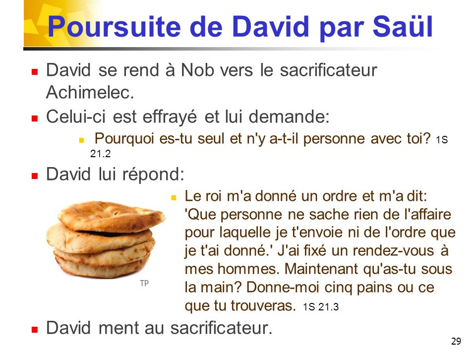 Poursuite de David par Saül