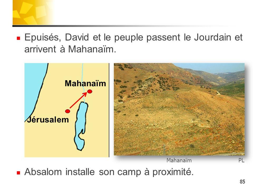 Absalom installe son camp à proximité.