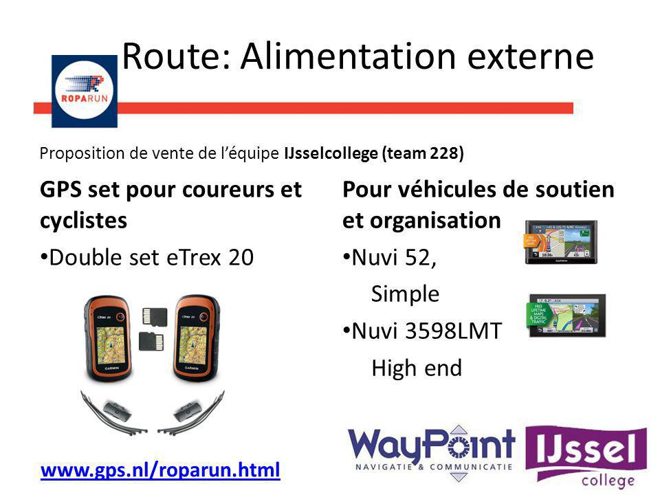 Route: Alimentation externe