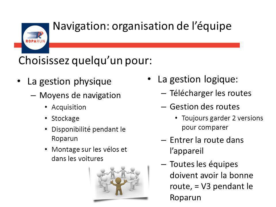 Navigation: organisation de l'équipe