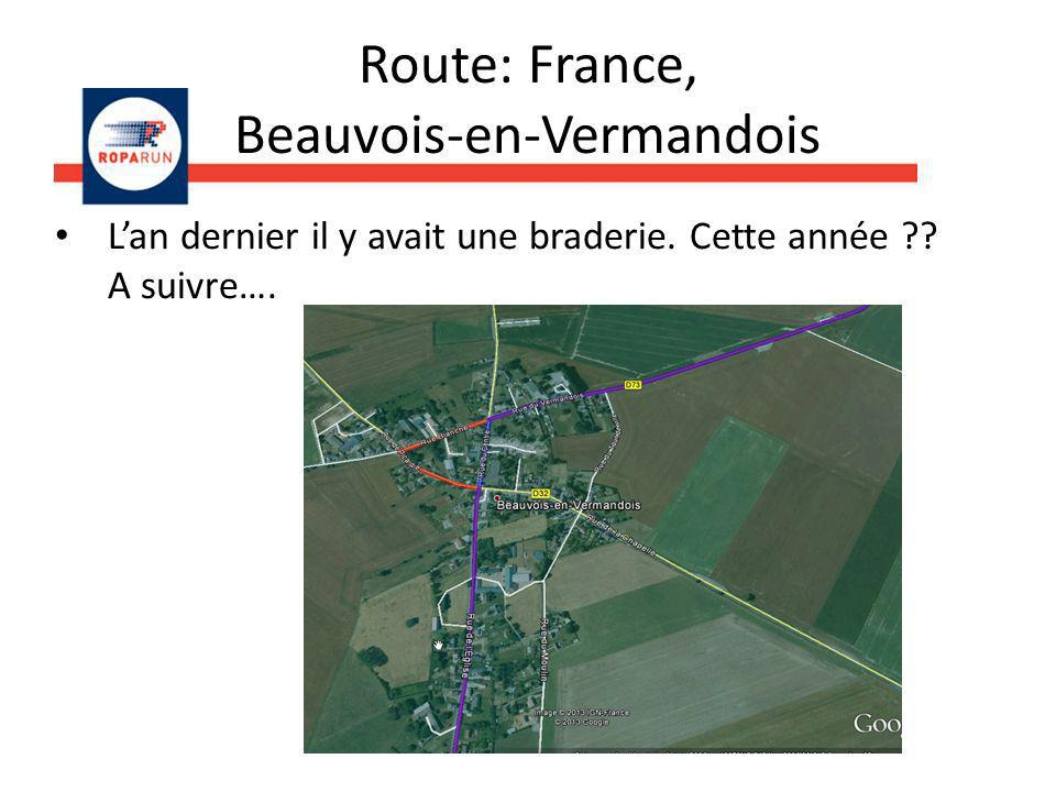 Route: France, Beauvois-en-Vermandois