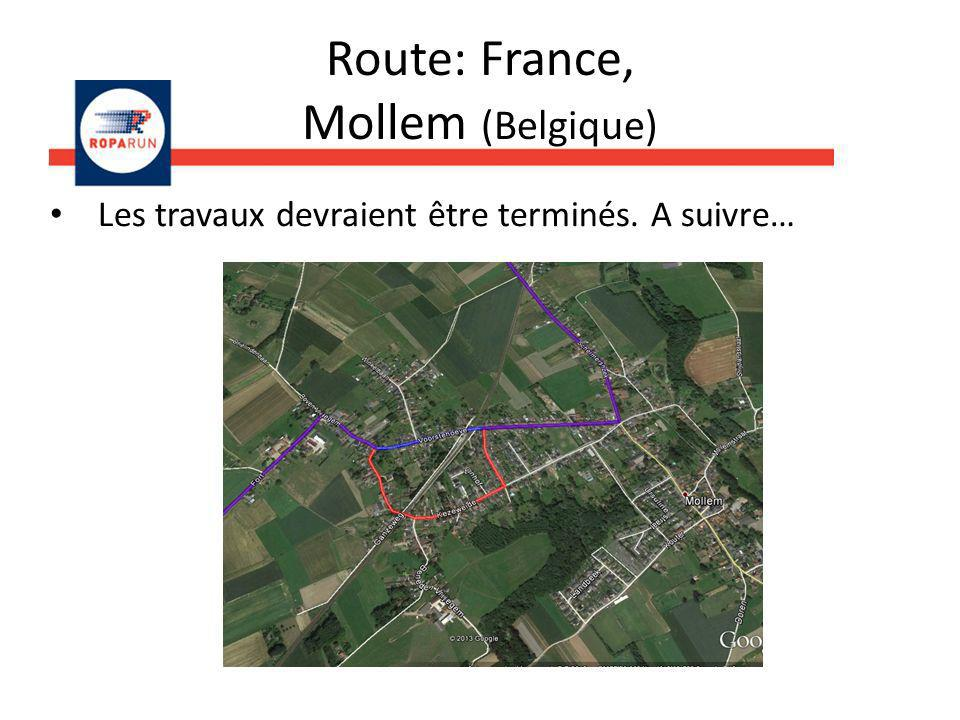 Route: France, Mollem (Belgique)