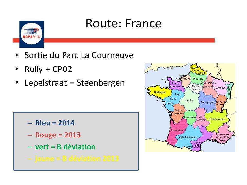 Route: France Sortie du Parc La Courneuve Rully + CP02