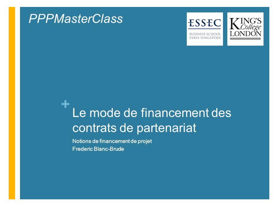 Le mode de financement des contrats de partenariat