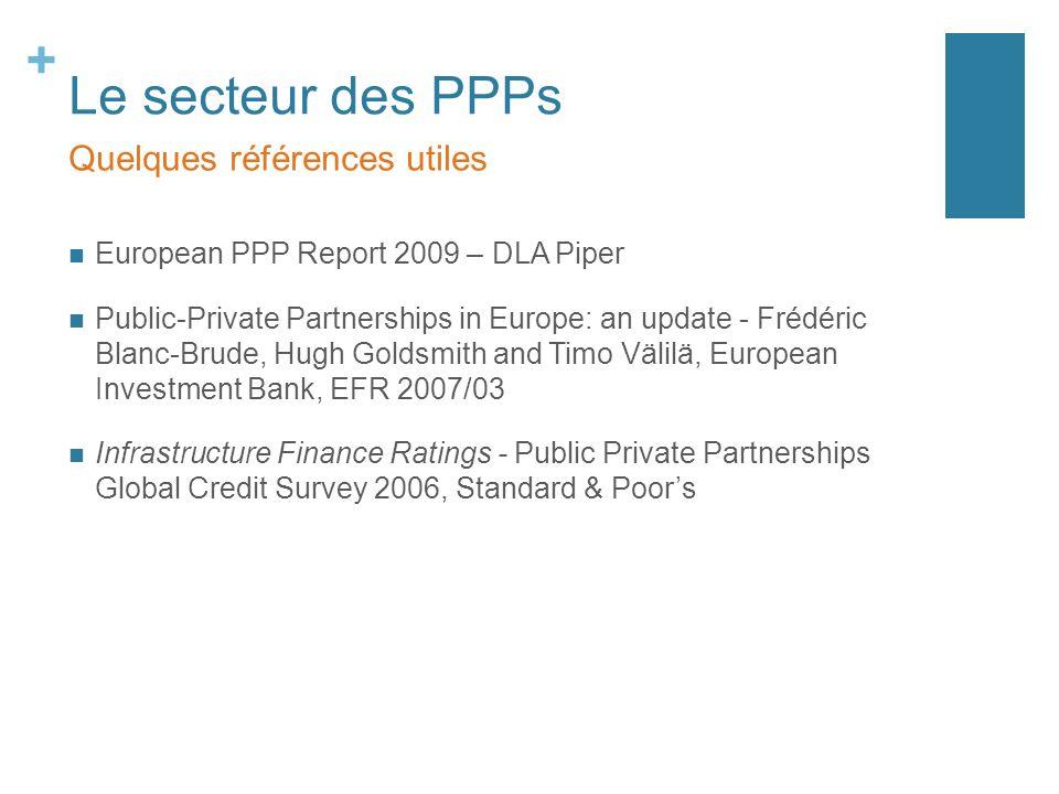 Le secteur des PPPs Quelques références utiles