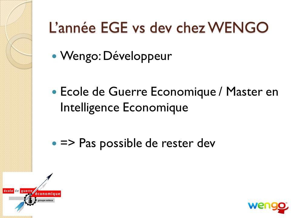 L'année EGE vs dev chez WENGO