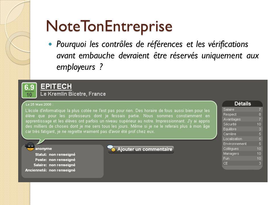 NoteTonEntreprise Pourquoi les contrôles de références et les vérifications avant embauche devraient être réservés uniquement aux employeurs