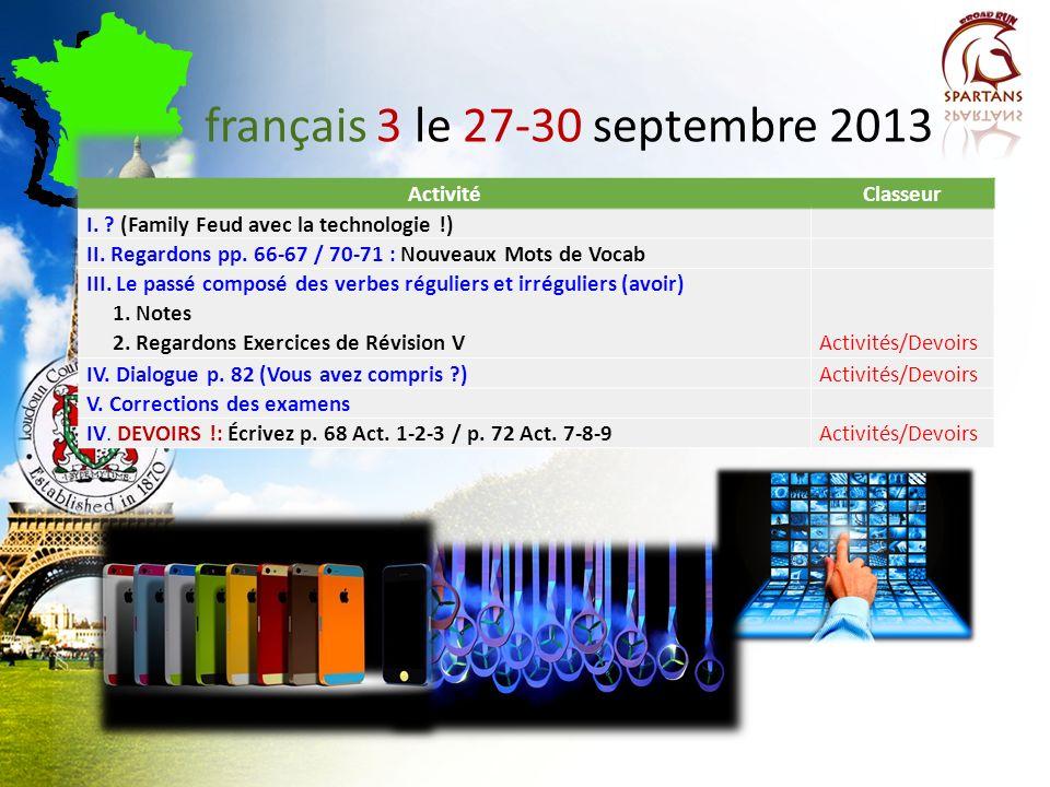 français 3 le 27-30 septembre 2013