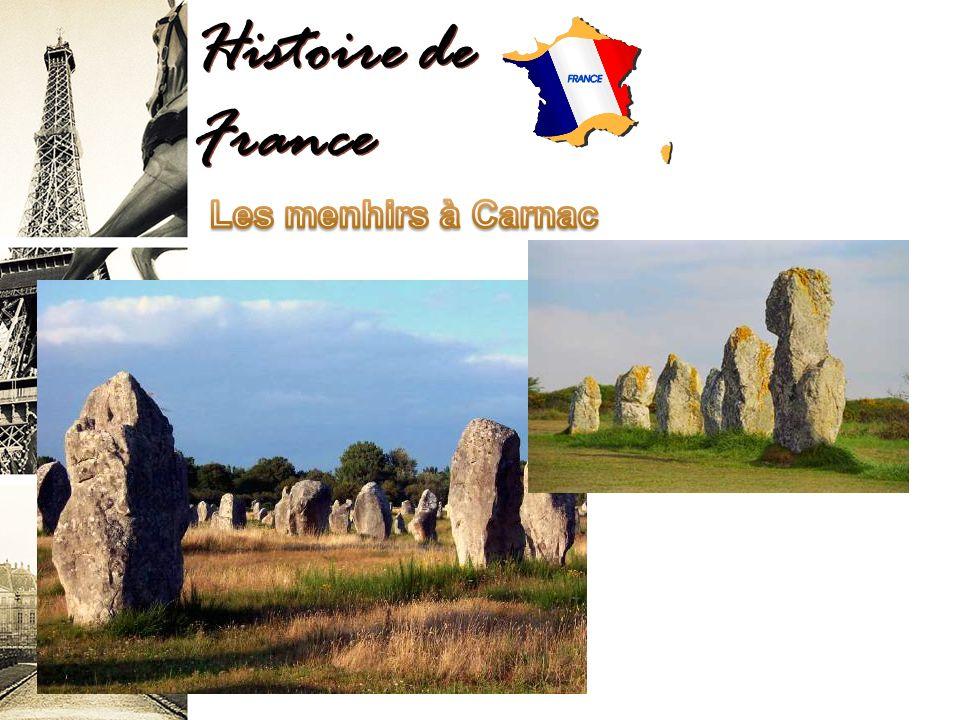 Histoire de France Les menhirs à Carnac