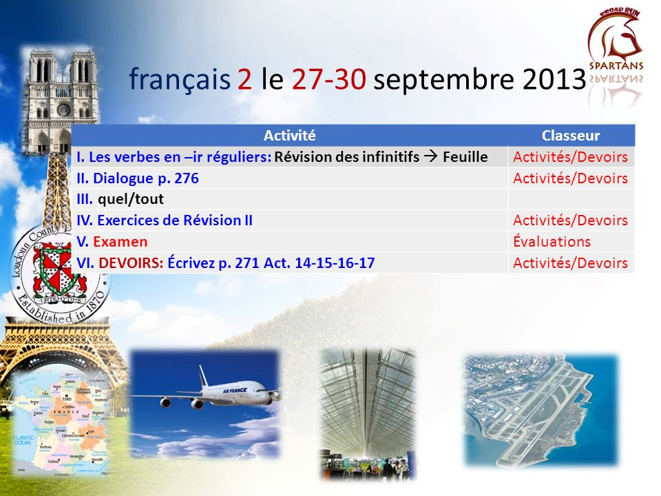 français 2 le 27-30 septembre 2013