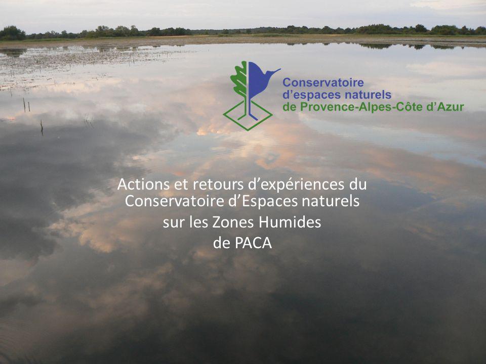 Actions et retours d'expériences du Conservatoire d'Espaces naturels