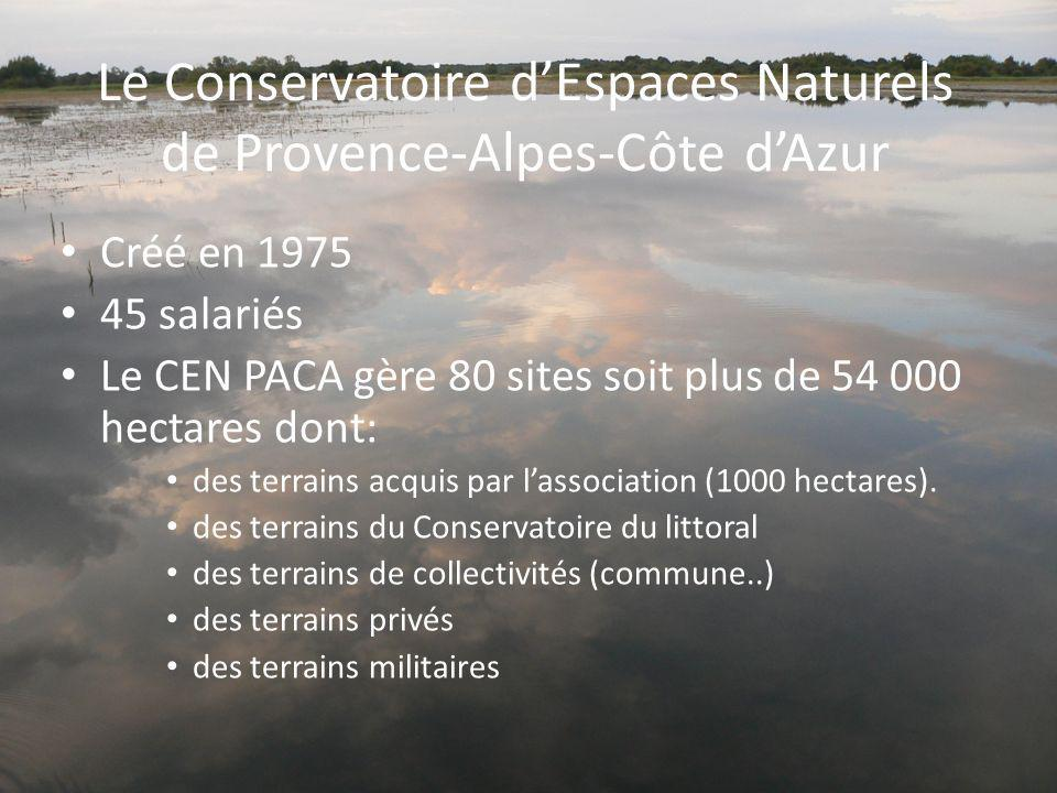 Le Conservatoire d'Espaces Naturels de Provence-Alpes-Côte d'Azur