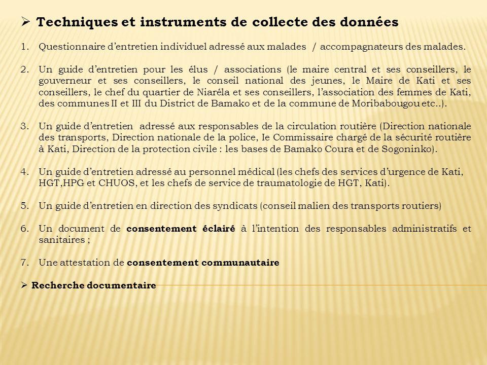 Techniques et instruments de collecte des données