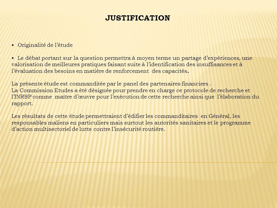 JUSTIFICATION Originalité de l'étude
