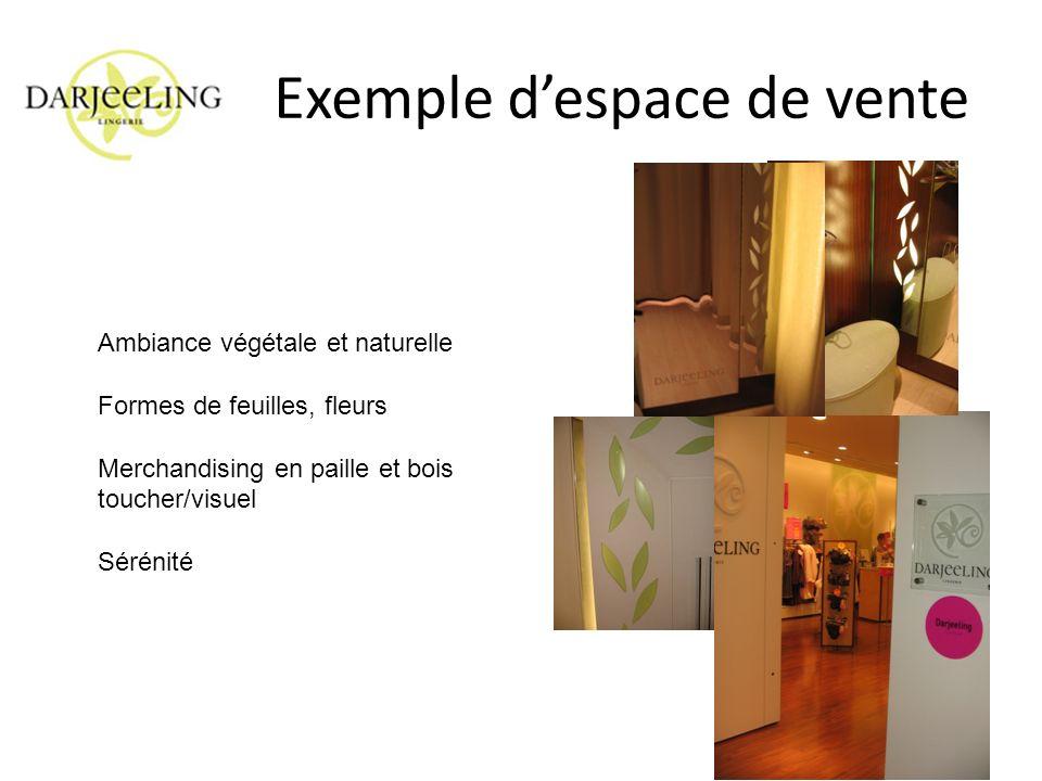Exemple d'espace de vente