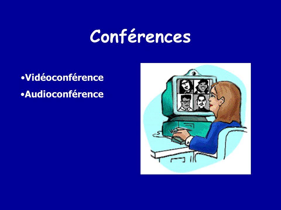 Conférences Vidéoconférence Audioconférence