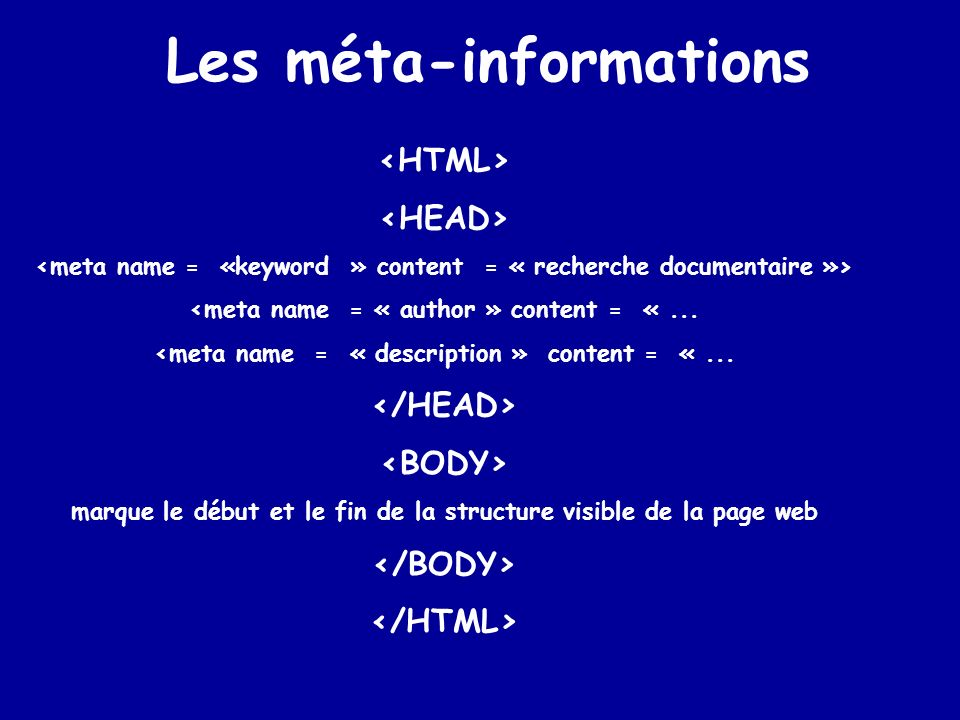 Les méta-informations