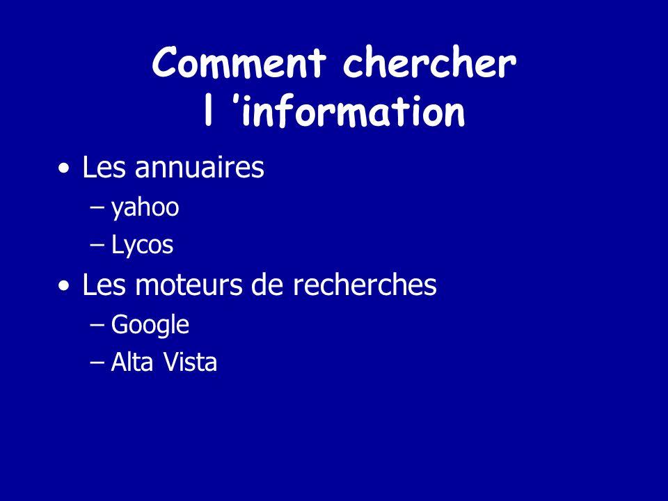 Comment chercher l 'information