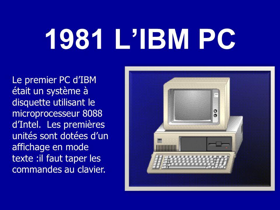 1981 L'IBM PC