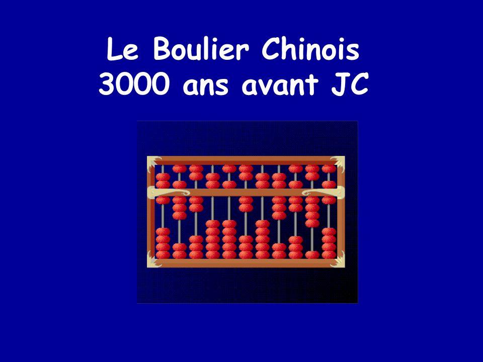 Le Boulier Chinois 3000 ans avant JC