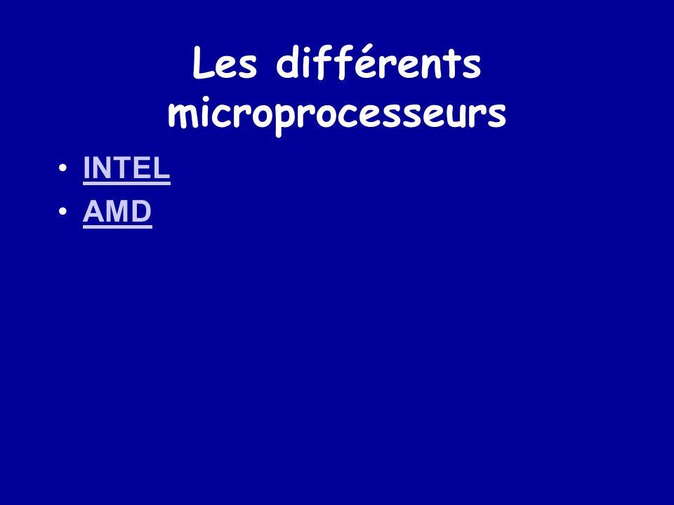 Les différents microprocesseurs