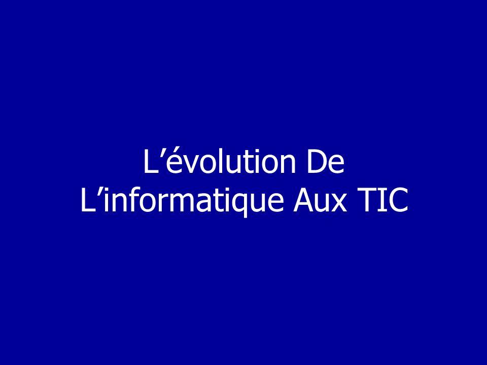 L'évolution De L'informatique Aux TIC