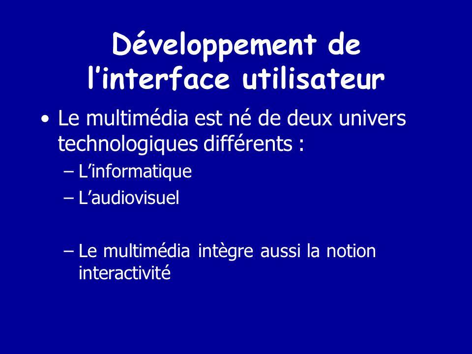 Développement de l'interface utilisateur
