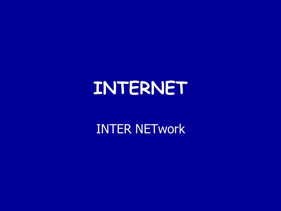 INTERNET INTER NETwork