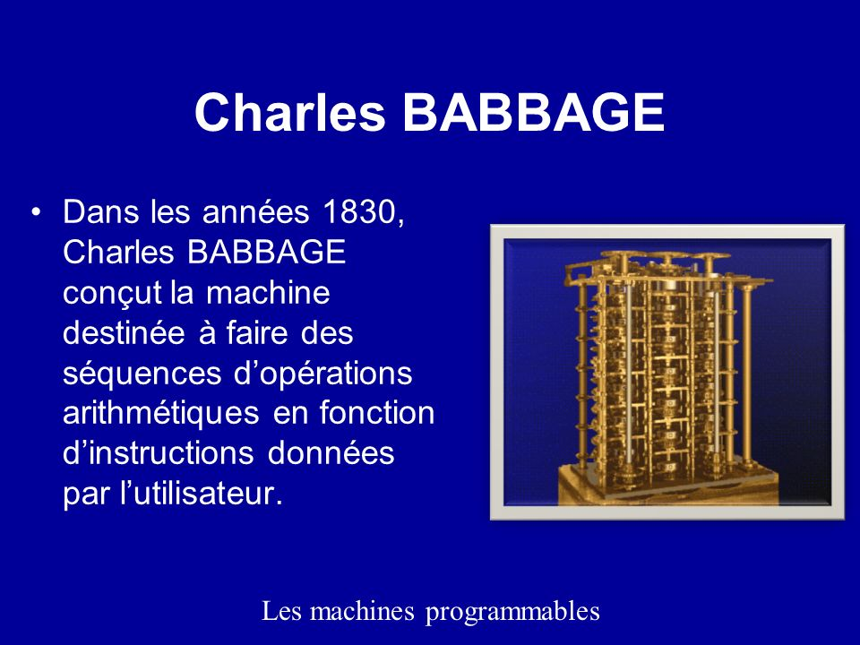 Les machines programmables