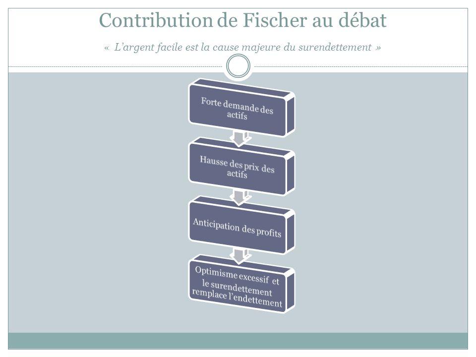 Contribution de Fischer au débat « L'argent facile est la cause majeure du surendettement »