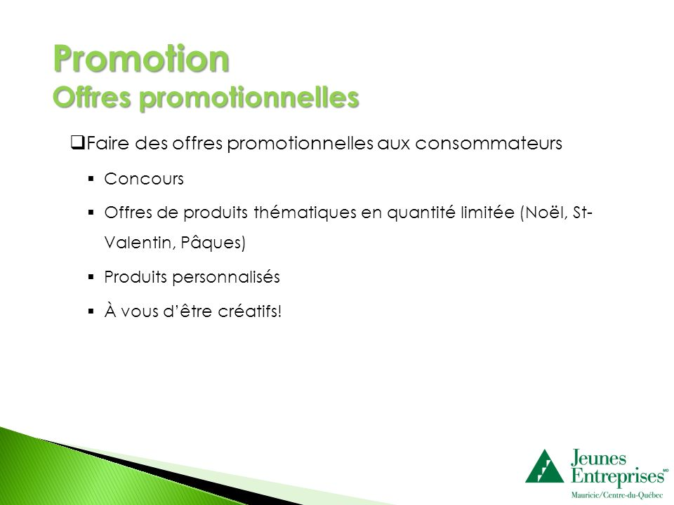 Promotion Offres promotionnelles