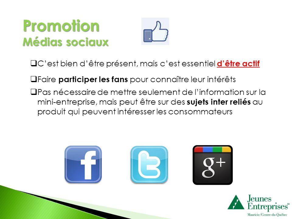 Promotion Médias sociaux