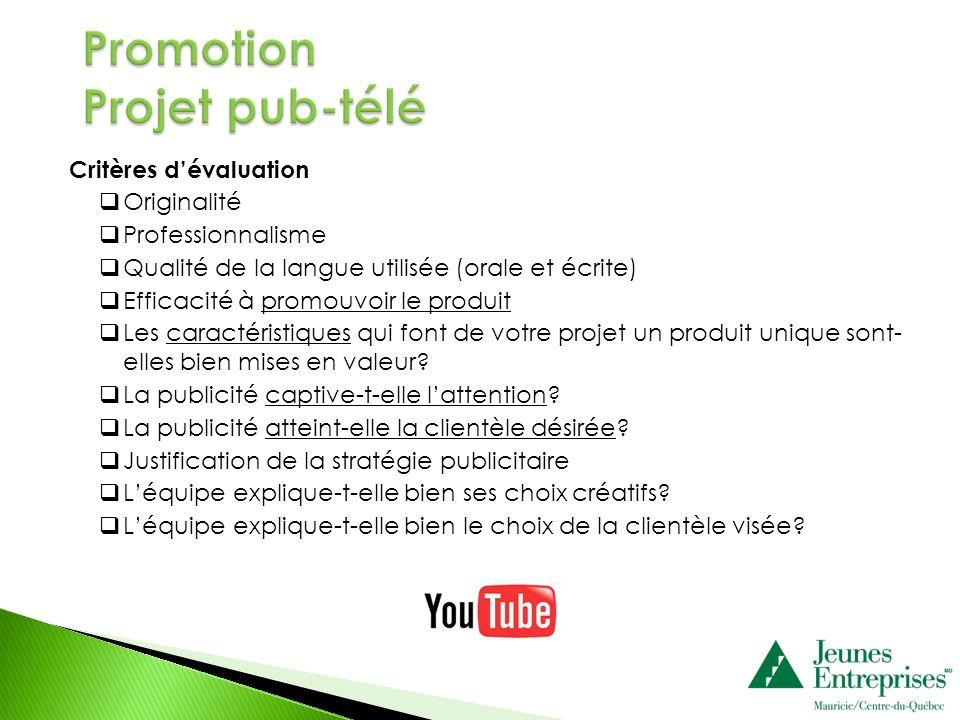 Promotion Projet pub-télé